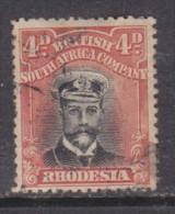 Southern Rhodesia: 1913 - 22, George V  4dblack +orange-red Perf 14, Die III Used - Southern Rhodesia (...-1964)
