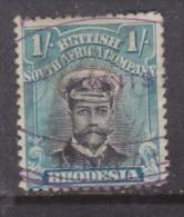 Southern Rhodesia: 1913 - 22, George V 1/= Black + Turquoise-blue Perf 14, Die II  Renenue / Fiscal Used - Southern Rhodesia (...-1964)