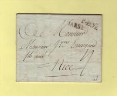 Marseille - Port Paye - Correspondance De 1786 Destination Nice - Postmark Collection (Covers)
