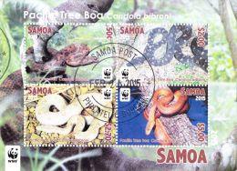 sam1502s1 Samoa 2015 WWF Pacific Tree Boa Snake s/s Mint (Not CTO)
