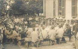 LEROUVILLE CARTE PHOTO ECRITE EN 1912 FANFARE MILITAIRE - Lerouville