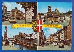 Deutschland; Neuss Am Rhein; Multivuekarte Mit Oberstrasse Und Hafen - Neuss