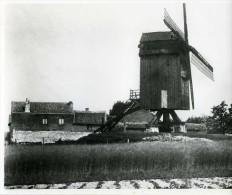 ANDERLECHT (Brussel) - Molen/moulin - Historische Opname 18x21 Cm Van De Vroegere Luizenmolen (1945) - Lugares