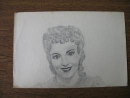 ORIGINAL OLD PAINTING CARTON (PAPER):Alida Valli - Dibujos
