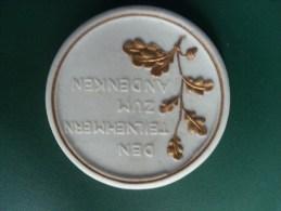 1922 Deutsche Kampfspiele, Den Teilnehmern Zum Andenken, Porcellan/keramik (medailles0102) - Deutschland
