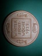 1922 Deutsche Kampfspiele, Wintersportwoche, Porcellan/keramik (medailles0113) - Germany