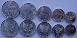 INDONESIA SERIE 5 MONETE 1996  2003  500-200-100-50-25 RUPIAH FDC UNC