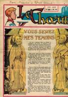 """LE CHOEUR N° 141 De Juin 1959 REVUE PIEUSE Illustrée Pierre BROCHARD : """" Vous Serez Mes Témoins """" St Jean Marie VIANNEY - Religion"""