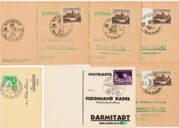 """1938-40-42   / Lot De 6 """" Journées Du Timbre """" - Allemagne"""