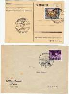 """1942-43  / Lot De 2 """" Journées Du Timbre """" - Allemagne"""