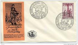 België FDC 1957 Dag Van De Postzegel - Maximiliaan Van Oostenrijk 1011 - Familles Royales