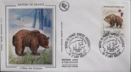 ENVELOPPE 1er JOUR 1991 - L'Ours Des Pyrénnées - St-Lary Soulan Le 14.09.1991 - Parfait état - - FDC