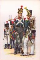 Uniformes Belges - Grenadiers - Série De 5 Cartes - Uniformi
