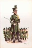 Uniformes Belges - Carabiniers - Série De 5 Cartes - Uniformi