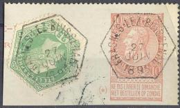 _5B-860:  N° TG4  [ Beschadigd] Op 10ct BRIEFKAART / Fragment: FRASNES-LEZ-BUISSENAL [type Bg] 27 JUIN 1895 - Geen Uur - Autres