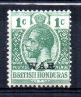 British Honduras - 1917 - 1 Cent War Tax - MH - Honduras Britannique (...-1970)