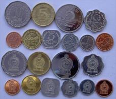 SRI LANKA 1978   2009  SERIE 10 MONETE 10-5-2-1 RUPEES 50-25-10-5-2-1 CENT FDC UNC - Sri Lanka