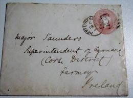 Entier Postaux Angleterre , Royaume Unis  Pour Major - Interi Postali