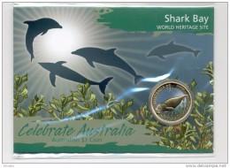 AUSTRALIA AUSTRALIE 2010. 1$ COIN. SHARK BAY. WORLD HERITAGE SITES. DOLPHINS. MANATEE - Australia