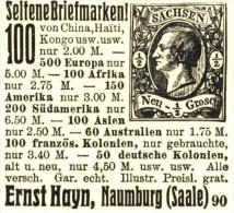 Original-Werbung/ Anzeige 1915 - BRIEFMARKEN ERNST HAYN NAUMBURG - Ca 45 X 45 Mm - Publicidad