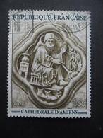 France N°1586 BAS-RELIEF De La Cathédrale D'amiens Oblitéré - Sculpture
