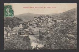 DF / 12 AVEYRON / ST-SERNIN-SUR-RANCE / VUE GENERALE DEPUIS LA ROUTE DE LACAUNE /CIRCULÉE EN 1908 - Altri Comuni