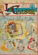 LE CHOEUR N° 119 De Mars 1957 REVUE PIEUSE Illustrée Pierre BROCHARD : Je Vous Salue Marie - Les 40 Jours Du Carême - Religion