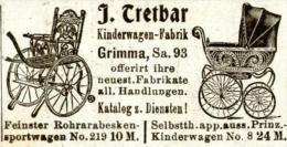 Original-Werbung/ Anzeige 1903 - TRETBAR KINDERWAGEN - FABRIK GRIMMA - Ca 55 X 30 Mm - Werbung