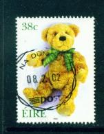IRELAND  -  2002  Greetings  Teddy Bear  38c  Used As Scan - 1949-... Republic Of Ireland