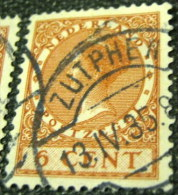 Netherlands 1924 Queen Wilhelmina 6c - Used - Usati