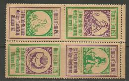Deutschland 1921 Reklamemarke Geflügel - Ausstellung In München In 4-block MNH - Erinnofilie