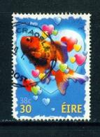 IRELAND  -  2001  Greetings  Goldfish  30p  Used As Scan - 1949-... Repubblica D'Irlanda