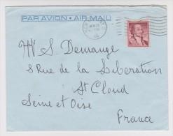 NEW YORK 22 APRIL 1966 PAR AVION PAQUEBOT FRANCE Cie GÉNÉRALE TRANSATLANTIQUE FRENCH LINE St CLOUD FRANCE ZOOM 3 Sc - Vereinigte Staaten