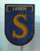 LAREN - Holland Netherlands, Blason, Coat Of Arms, Vintage Pin Badge - Cities