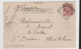 IK O030/ ITALIEN - LEVANT - LA Canea Bildkarte 1907 Nach Frankreich. Italienische Frankatur Ohne Aufdruck! - 11. Oficina De Extranjeros