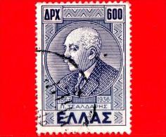 GRECIA - HELLAS - Usato - 1946 - Panagiotis Tsaldaris (1868-1936), Politico - 600 - Usati