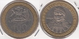 Cile 100 Pesos 2009 Bimetallic KM#236 - Used - Cile