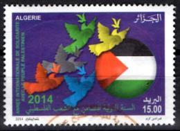 ALGERIA ALGERIE 2013 -  TP  Used Oblitéré - Palestine Flag Colombe Paix Peace Dove - Timbres