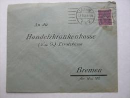 "1922 , Leipzig   Firmenlochung , Perfin , Beleg  "" L K O "" - Deutschland"