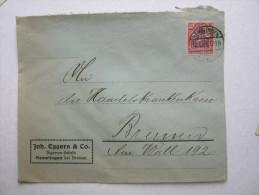 1922 , HEMELINGEN     Firmenlochung , Perfin , Beleg - Briefe U. Dokumente