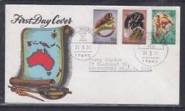 Papua New Guinea 1971 Animals FDC - Papouasie-Nouvelle-Guinée