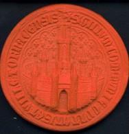 Ville De TOURNAI (XIII E Siècle) – Module (70 Mm) Moulé En Terre Cuite Du Sceau Avec Suspension Au Dos - Monnaies & Billets