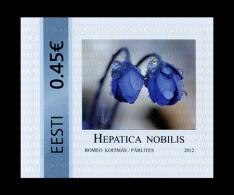 ESTONIA ESTLAND ESTONIE My Stamp Meine Marke Hepatica Nobilis 2012 MNH - Plants