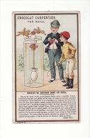 CHROMO Chocolat Carpentier Thé Royal , Magie : Courses De Chevaux Dans Un Bocal , Expliqué Par Tom Tit - Chocolate