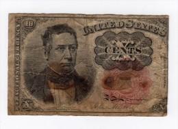 BILLET XIX ème 10 CENTS  Type 1863 Fractional Currency - Devise Fractionnelle (1862-1875)