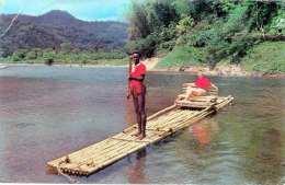 JAMAICA 1958 - Rafting On Rio Grande Near Port Antonio, Sondermarke, Ecke Bestossen - Jamaica