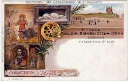 Litho Souvenir Des Catacombes De ST CALLISTE, Via Appia Antica 33 - ROMA, Um 1900 - Andere Monumente & Gebäude