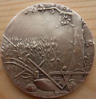 DB-088 Médaille Bronze Signée C.H. Marey Comice Agricole Des Cantonsde Bourg Argental Et Pélussin - Bronzes