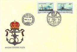 "Hungary 1993: ""Szent Istvan"" Steamer (1892) & Clad (1915) Mi-Nr.4264-5 On FDC (CV. 2.50 Euro) - Schiffe"