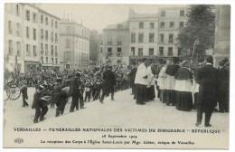 CPA / FUNERAILLES NATIONALES DES VICTIMES DU DIRIGEABLE REPUBLIQUE 1909 / VERSAILLES / Reception Des Corps - Dirigibili